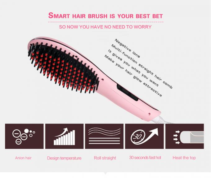 Electric Hair Straightener Brush Home Beauty Machine NASV 100 With Lcd Display