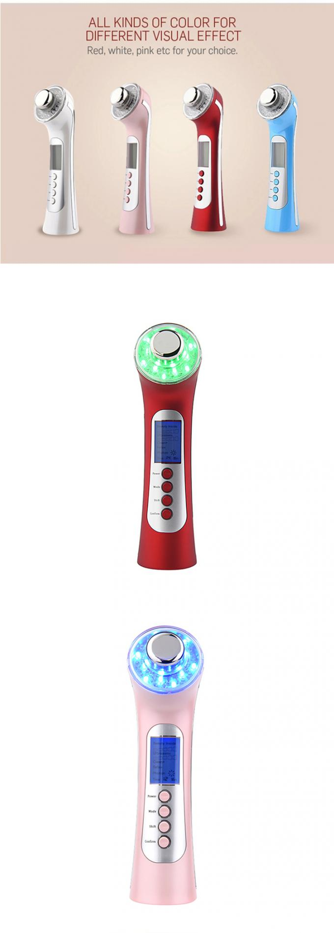 Electric Photon Ultrasound Beauty Machine Facial Skin Tightening With Led Light