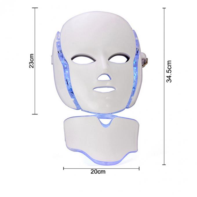 PDT LED Light Therapy Face Mask , Led Photon Therapy Mask CE ROHS Approved