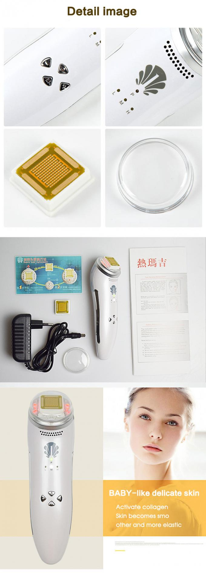 Home Ultrasound Beauty Machine , Rf Skin Tightening Machine Shrink Enlarged Pores