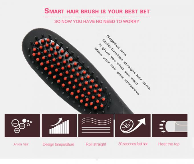 Ceramic Electric Home Hair Straightener Comb Brush With PTC Heating Plate