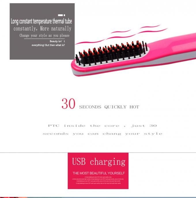 Magic Ceramic Flat Iron Hair Straightener Brush