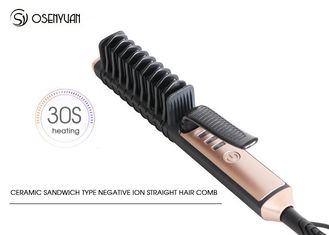 China 75W Ceramic Hair Straightener Comb , Professional Hair Straightening Comb supplier