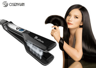 China Portable Home Hair Straightener , Electric Ion Titanium Ceramic Flat Iron Hair Steam Brush supplier