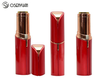 China Rechargeable Mini Painless Face Hair Remover Gold Plated Lipstick Shaped factory