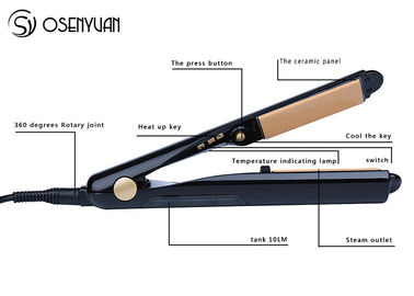 China Steam Function Flat Iron Ceramic Hair Straightener Anti - Clogging Technology factory